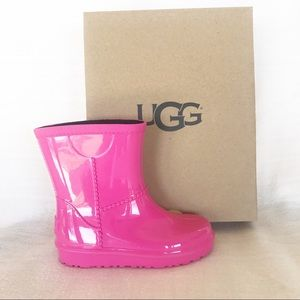 NEW Ugg Kids Rahjee Diva Pink Rainboot Size 10